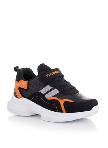 Tonny Black Siyah Turuncu Çocuk Spor Ayakkabı Tbk5 Siyah